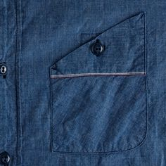 J.crew Mister Freedom® Utility Chambray Workshirt in Blue for Men (rustic blue)   Lyst