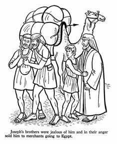 Printable - Joseph and the coat of many Colors Coloring Page