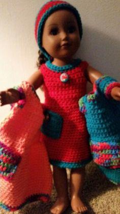 American girl crochet dress