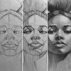 face drawing process Art Print by Marcin Warzecha - X-Small Life Drawing, Drawing Faces, Figure Drawing, Drawing Sketches, Painting & Drawing, Art Drawings, Drawing Ideas, Drawing Step, Sketching