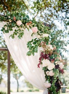 Mauve wedding chuppah flowers in wine country - Wedding Mauve Wedding, Floral Wedding, Wedding Flowers, Dream Wedding, Wedding Chuppah, Wedding Table, Wedding Ideas, California Wedding, Valley California
