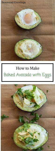 Baked Avocado with Eggs - healthy and full of protein!