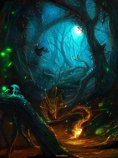 23 Ideas For Fantasy Art Landscapes Forests Life Fantasy Art Landscapes, Fantasy Landscape, Fantasy Artwork, Fantasy Forest, Dark Fantasy, Magic Forest, Fantasy Places, Fantasy World, Fantasy Creatures