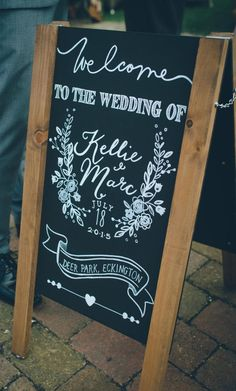 personalised wedding chalkboard sign custom welcome sign Trending - CowlesNCP ~ Make your Wedding Ideas Rustic Wedding Signs, Wedding Welcome Signs, Rustic Signs, Wedding Ideas, Wedding Blog, Wedding Decor, Wedding Planning, Wedding Inspiration, Chalk Pens