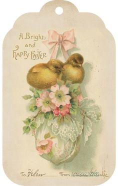 Shabby Vintage Easter Tag