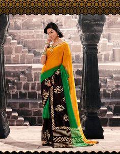 Indian Traditional Ethnic Bhagalpuri Party Wear Exclusive Designer Saree Sari