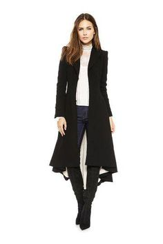 Lined Longline Trench Coat - US$60.00 -YOINS