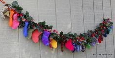 Stash Slasher Stocking Garland (Countdown) pattern by Suzetta Williams Crochet Christmas Ornaments, Christmas Crochet Patterns, Handmade Christmas, Christmas Stockings, Christmas Crafts, Christmas Sock, Holiday Crochet, Christmas Countdown, Christmas Ideas