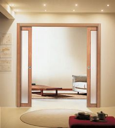 the pocket sliding french doors between the living room and the dining room are a great touch and contribute to the clean lines that mark the interu2026