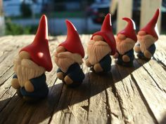 For awhile now, I've been wanting to make a gnome.so, since I had the clay out, I thought I'd give it a shot. And I couldn't be hap. Polymer Clay Dolls, Polymer Clay Projects, Polymer Clay Creations, Diy Clay, Clay Christmas Decorations, Christmas Crafts, Biscuit, Polymer Clay Christmas, Cute Clay