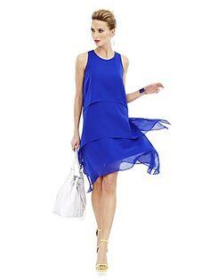 Tiered Sharkbite Dress - New York & Company