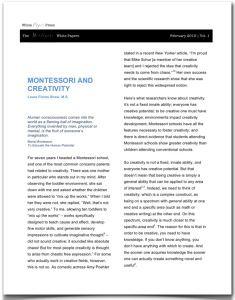 Montessori Compass  Scope  Sequence  Montessori