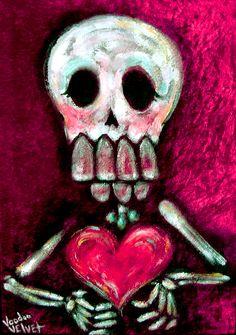 Acrylic on red velvet, velvet painting - You take it I'm dieting! -Voodoo Velvet ©TM #voodoo #velvet #painting #voodoovelvet #velvetpainting