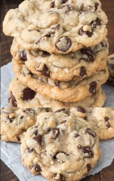 This is the BEST Chocolate Chip Cookie Recipe and the only basic cookie recipe y. - This is the BEST Chocolate Chip Cookie Recipe and the only basic cookie recipe you need, seriously. Basic Cookie Recipe, Basic Cookies, Easy Cookie Recipes, Baking Recipes, Chick Fil A Cookie Recipe, Levain Cookie Recipe, Chocochip Cookies Recipe, Sweet Recipes, Eid Recipes