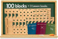 SumBlox Teacher Set - 100 blocks and instruction booklets for multiplication etc