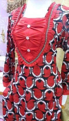 خياط وتفصيل – Communauté – Google+ Churidar Neck Designs, Saree Blouse Neck Designs, Kurta Neck Design, Salwar Designs, Blouse Designs, Chudi Neck Designs, Neck Designs For Suits, Sleeves Designs For Dresses, Dress Neck Designs