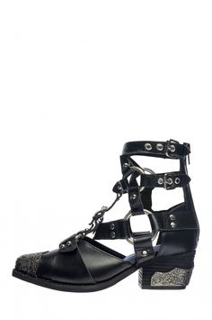 Jeffrey Campbell Shoes TEMEKU Booties in Black