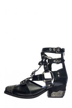 Jeffrey Campbell Shoes TEMEKU Booties in Black