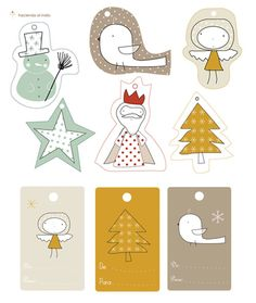 Christmas present tags, free printable