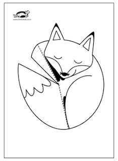 children activities, more than 2000 coloring pages Fox Crafts, Animal Crafts, Paper Art, Paper Crafts, Diy Paper, Art Worksheets, Fox Print, Craft Club, Kindergarten Art