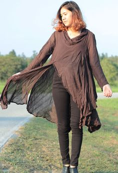 Tunic thin  linen/cotton  / long sleeve   and more by cocoricooo