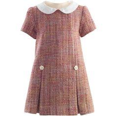 Sparkle Tweed Shift Dress ($300) ❤ liked on Polyvore featuring dresses, red sparkly dress, sparkly shift dress, sparkly dresses, tweed shift dress and red shift dress