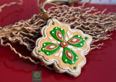 Vintage Christmas Tree Ornament Toy Decoration Polymer Clay Decor Unique Details Design Holiday Home Decor Snowflake Christmas Gift Mom