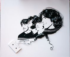 Ghost in the Machine- The Beatles (portrait in cassette tape- click through for more)