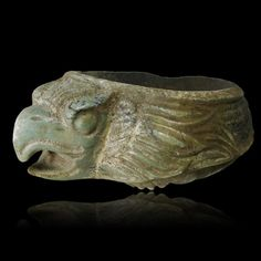 Rare Pre-Columbian Aztec Eagle Stone Dish from Mexico. This and other rare Pre-Columbian art on CuratorsEye.com