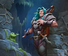 World of Warcraft World Of Warcraft Game, Warcraft Movie, Warcraft Art, Minion Card, Character Art, Character Design, Night Elf, Heroes Of The Storm, Illustration
