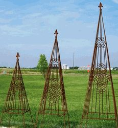 Wrought Iron Garden Scroll Flower Topiary Metal Topiaries U0026 Obelisks Great  Topiary That Is Sometimes Called