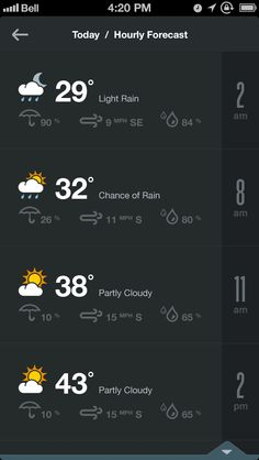 Dribbble - 15.1_weather_hourly.png by Rally Interactive (via Ben Cline)