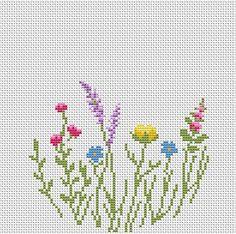 Cross stitch Wildflowers pattern FlowersHoop art cross stitch | Etsy
