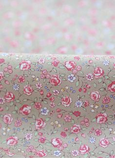 Romantic Mini Flower in Beige 1 Yard 22591. $11.20, via Etsy. To back the bookshelves in the new sewing space