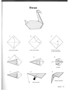 Prison break 2005 how to create the origami swans for Origami swan easy step by step