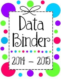 Reading Workshop Data Binder Sheets.  I think I just found and fell in love with my new data binder cover!!