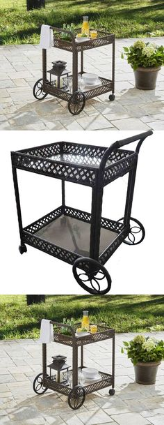 Bar Carts And Serving Carts 183320: Rolling Serving Cart Kitchen Utility  Folding Shelves Metal Trolley Tier Rack New  U003e BUY IT NOW ONLY: $83.97 On U2026