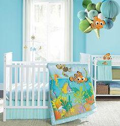 finding nemo tropical fish ocean theme nursery baby bedding set