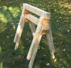 Stackable sawhorse plans