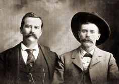 The man on the right is George Scarborough. Scarborough shot and killed John Selman behind a bar in El Paso in August, 1897. Two years earlier, Selman had killed the notorious gunslinger John Wesley Hardin in a different El Paso bar.