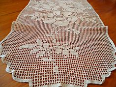 Vintage Large Doily White Centrepiece Runner Doilies Crocheted Doilys  B212 by treasurecoveally on Etsy