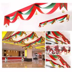 Christmas Xmas Wave Flag Balls Jingle Bells Party Decoration Ornaments For Home/Gotels/Restaurants Party Office Christmas Party Games, Grinch Christmas Party, Holiday Party Games, Halloween Party Games, Christmas Banners, Christmas Games, Christmas Crafts, Christmas Ornaments, Christmas Ceiling Decorations