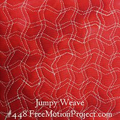 Free Motion Quilting Project Design Jumpy Weave. Click the link to find a free video on how to quilt this design - http://freemotionquilting.blogspot.com/2015/08/free-motion-quilt-jumpy-weave-448.html