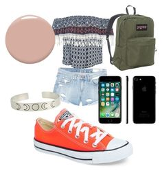 """Spring!!! #28"" by sydnaiqueenz on Polyvore featuring Sans Souci, rag & bone/JEAN, Converse, JanSport, Apple and Christian Louboutin"