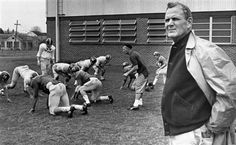 Alabama football coach Paul (Bear) Bryant looks across the Tulane University practice field in New Orleans, Louisiana, Dec. 27, 1966 as defensive coach Jimmy Sharpe runs interior linemen through defensive drills. The Alabama football team went through practice sessions as its Sugar Bowl opponent, the University of Nebraska, arrived in New Orleans after a week of practice in Brownsville, Texas. Photo: Jack Thornell, AP File Photo / AP1966