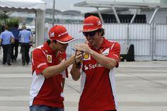 Massa & Alonso - GP Malaysia 22nd March 2012 #formula1 #f1 #malaysia
