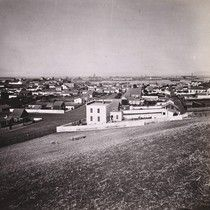 576. Vallejo and Mare Island, Solano County, General View 1860s