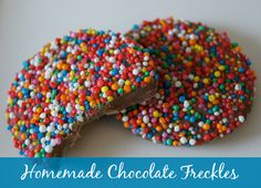 Homemade Chocolate Freckles are a super easy recipe that looks pretty and taste great.