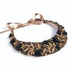 Crochet Necklace, Beaded Necklace, Necklaces, Handmade Jewelry, Fashion, Beaded Collar, Moda, Pearl Necklace, Handmade Jewellery
