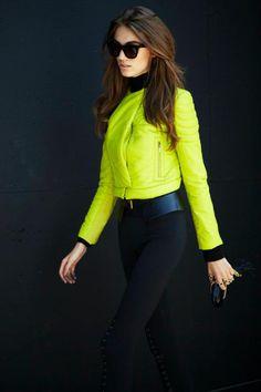 Neon biker jacket